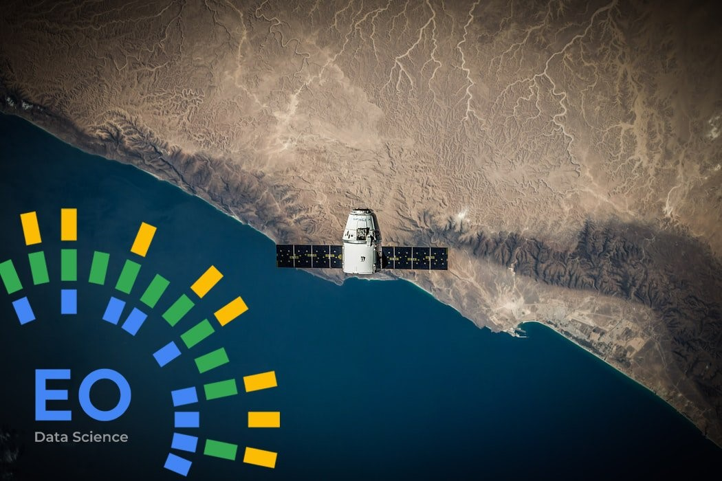 eo data science logo and satellite